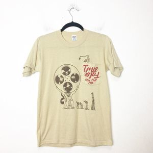 Vintage 1986 True False Film Fest Tan T Shirt